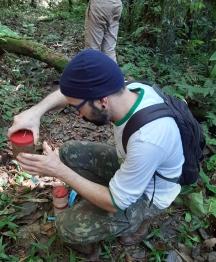 Thiago failing to collect subterranean ants in Brazil